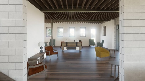 An interior rendering of the new healing quarters