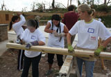 Alabama AGC volunteers rebuilding a tornado-damaged home.