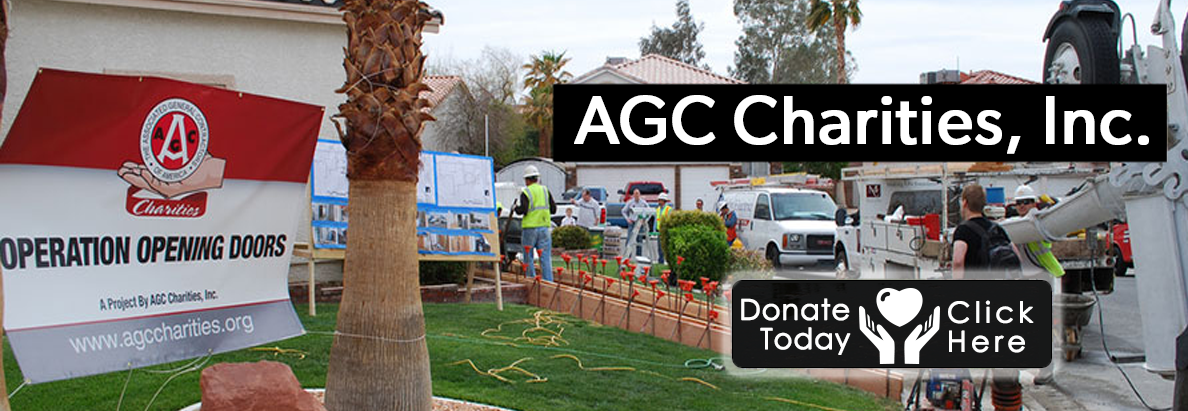 AGC Charities, Inc.  We were established to support individuals in need throughout communities across the United States.